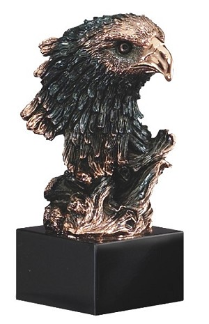 "8 1/2"" Tall Eagle Head On Base"