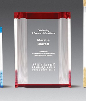 Corporate Recognition Award Channel Mirror Series Medium