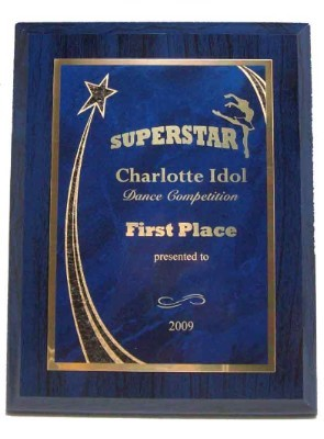 Economy Blue Plaque with Star Plate