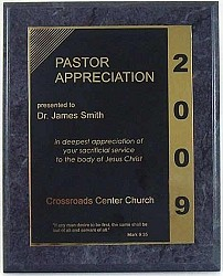 Pastor Appreciation Plaque
