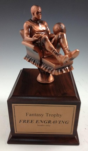 Fantasy Basketball Arm Chair Warrior Trophy